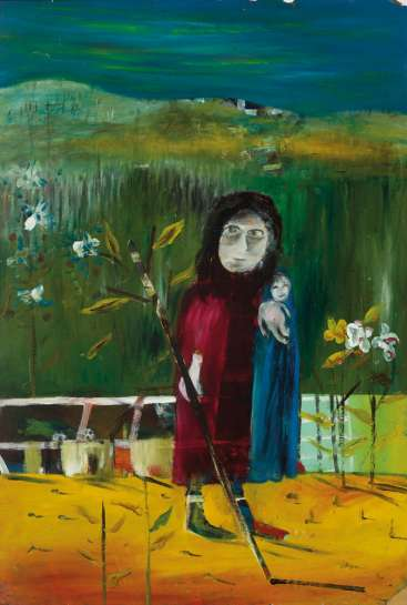 Untitled (Mrs. Reardon & Child) by SIDNEY NOLAN