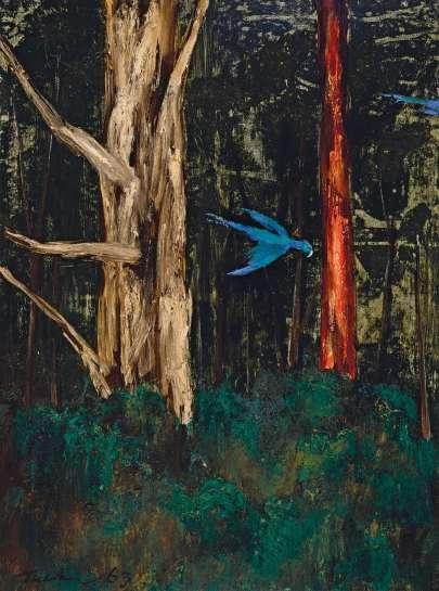 Birds in Flight by ALBERT TUCKER
