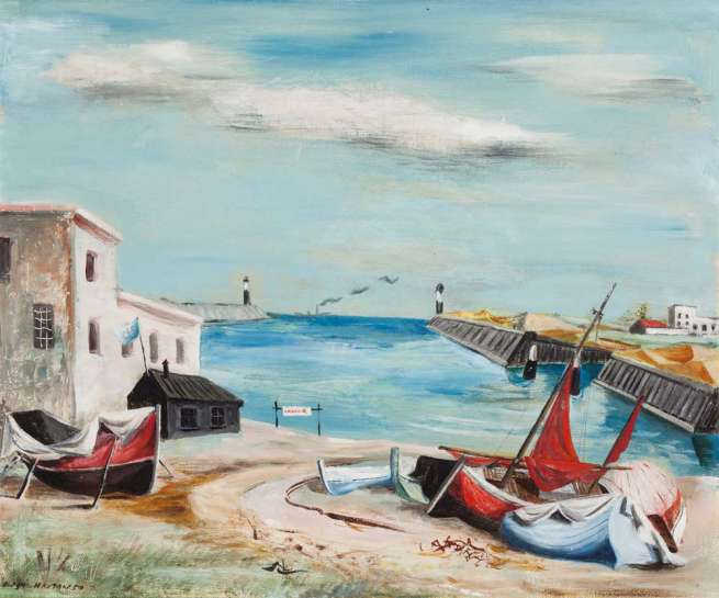 Untitled (Fishing Boats South England) by ELAINE HAXTON