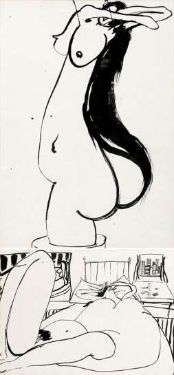 Untitled (Nudes I & II) by BRETT WHITELEY