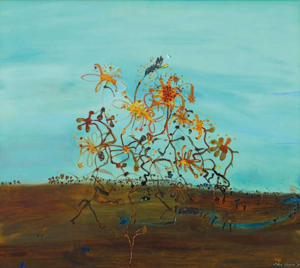 Evening with Passing Wildflowers by JOHN OLSEN