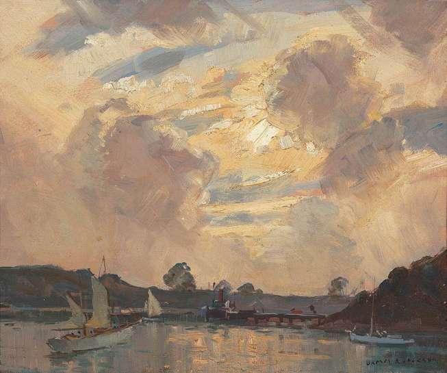 Evening, Berrys Bay, Sydney by JAMES R. JACKSON