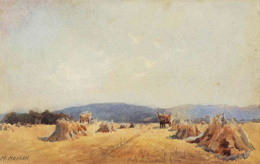 Untitled (Haystacks) by HANS HEYSEN