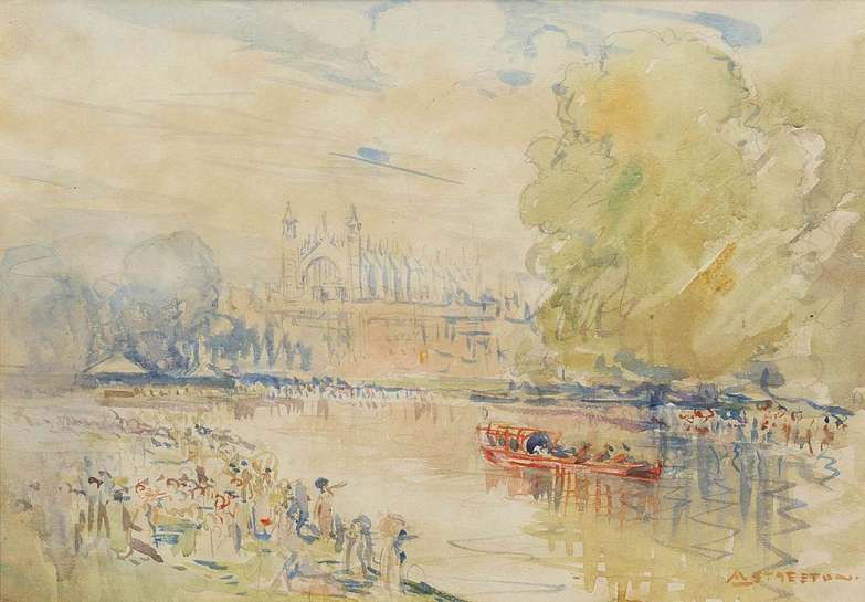 The King's Barge, Eton by ARTHUR STREETON