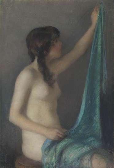 Blue Drape by JANET CUMBRAE-STEWART