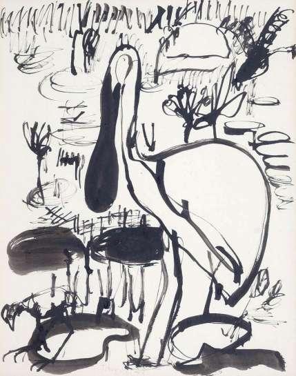 Royal Spoonbill by JOHN OLSEN