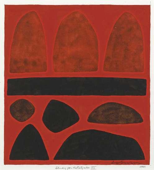 Study for Katatjuta III by JOHN COBURN