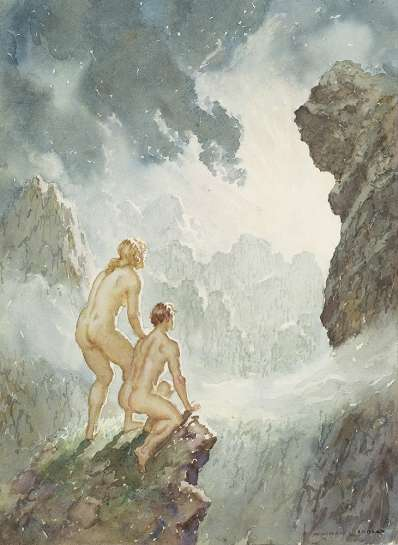 Untitled (Two Nudes) by NORMAN LINDSAY