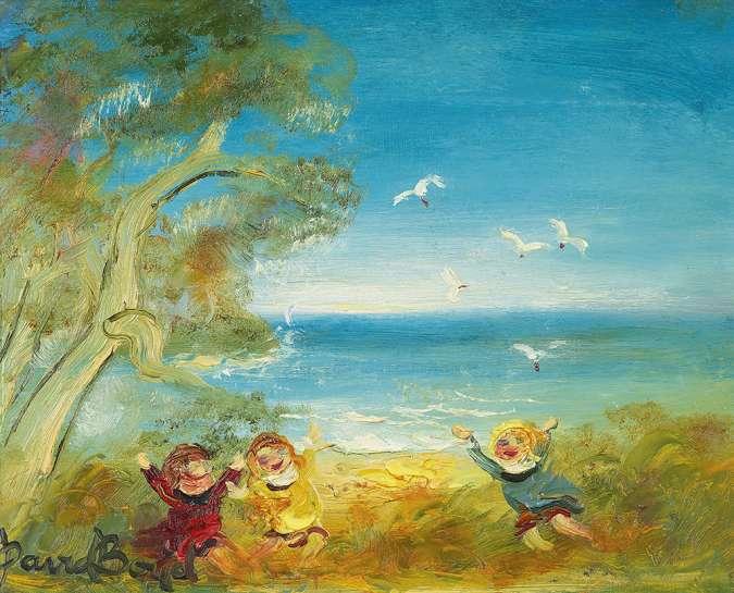 Three Children by the Sea by DAVID BOYD