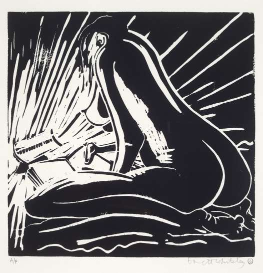 Warming and Reading by BRETT WHITELEY