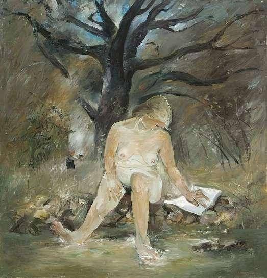 Figure by a Creek by ARTHUR BOYD