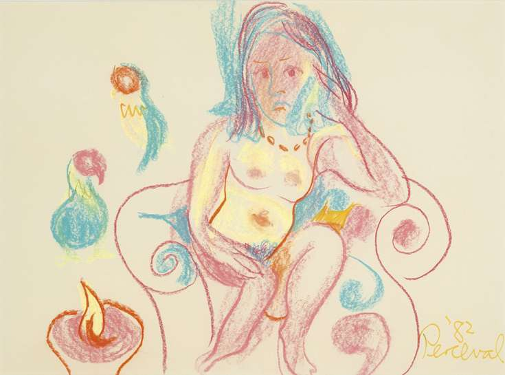 Nude in an Armchair by JOHN PERCEVAL