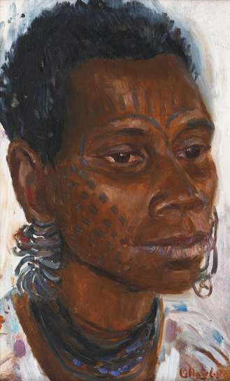 Woman from Angoram Sepik River by MARGARET OLLEY