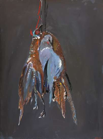 Two Pheasants and a Pigeon by ARTHUR BOYD