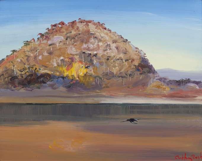 Riversdale Hill with Single Blackbird by ARTHUR BOYD