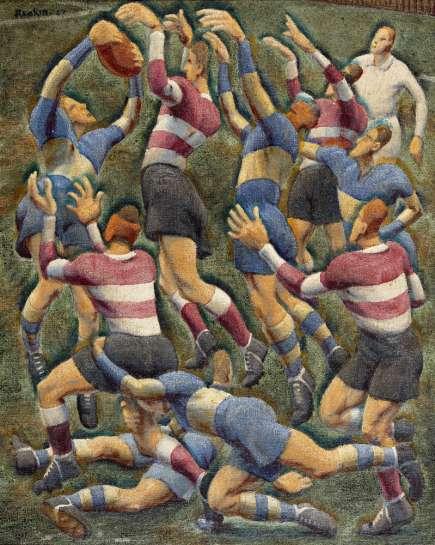 Footballers by WEAVER HAWKINS