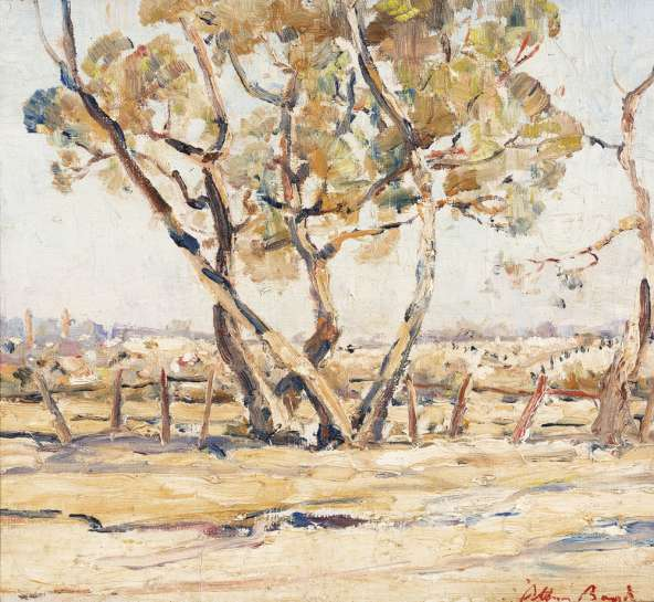 Trees and Rosebud Landscape by ARTHUR BOYD