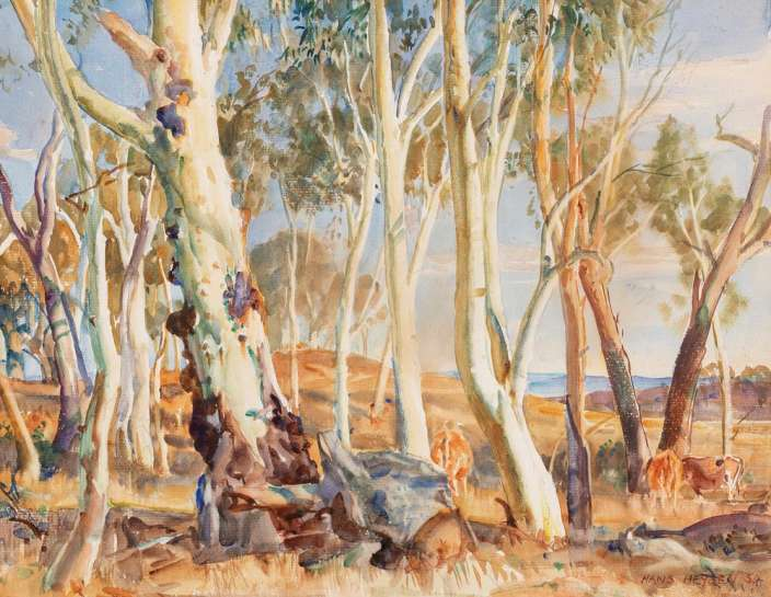 Untitled (Landscape with Cows) by HANS HEYSEN