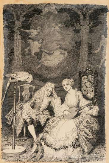 Illustration to Congreve's Play by NORMAN LINDSAY