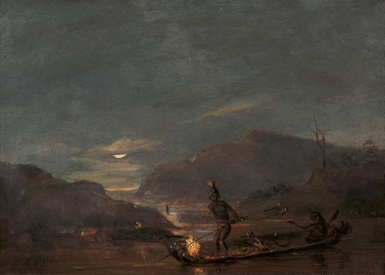 Untitled (Aborigines Fishing by Torchlight) by THOMAS BALCOME