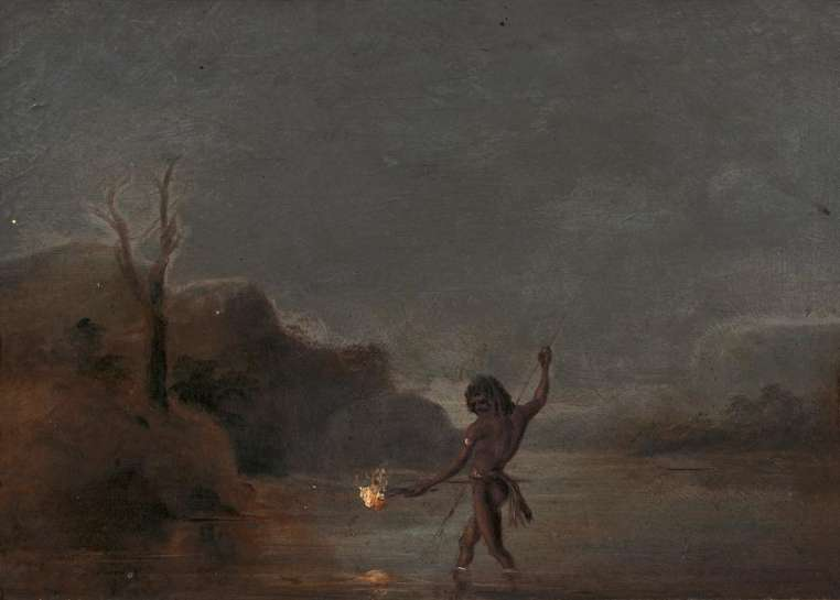 Untitled (Aborigine Fishing) by THOMAS BALCOME