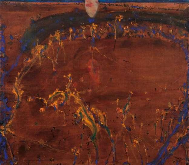 Moon & Wattle Blossom Night by JOHN OLSEN