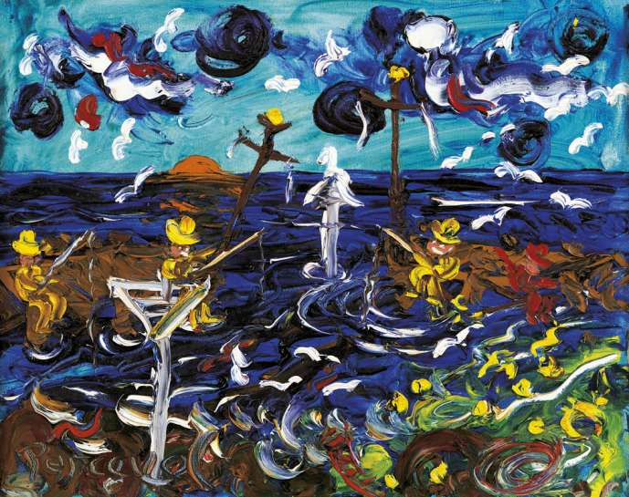Fishing off the Pier by JOHN PERCEVAL