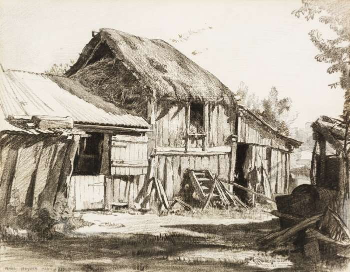The Old Barn Shed, Hahndorf by HANS HEYSEN