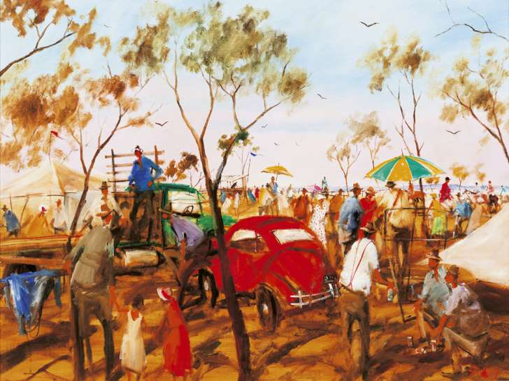 At the Thargominda Picnic Races, Western Queensland by HUGH SAWREY
