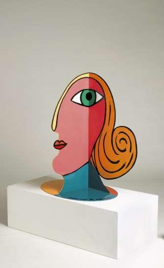 (Large 3 Sided Face) by DEBORAH HALPERN