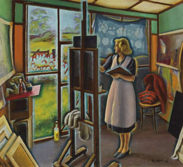 Doing Still Life (also known as Artist's Studio) by WEAVER HAWKINS