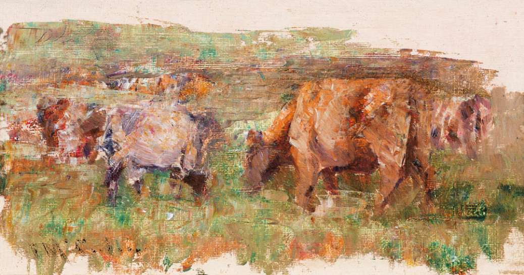 Grazing Cows by FREDERICK McCUBBIN