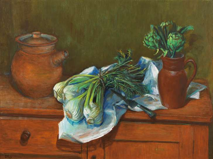 Artichokes and Fennel by MARGARET OLLEY