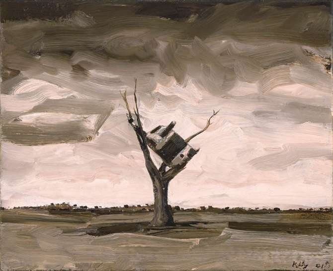 Untitled (Cow up a Tree) by JOHN KELLY