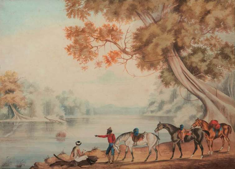 Untitled (Exploring Party at a River) by AUSTRALIAN SCHOOL