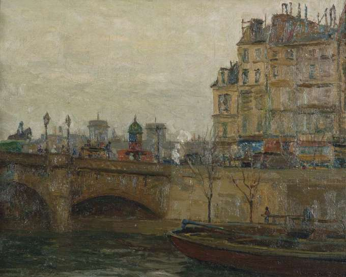 Barge Under the Pont Neuf, Paris by WILL ASHTON