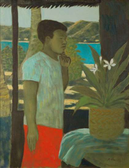 Islander Boy Contemplating by RAY CROOKE