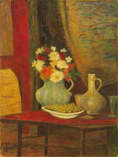 Still Life with Jug and Grapes (Homage to Renoir) by RAY CROOKE