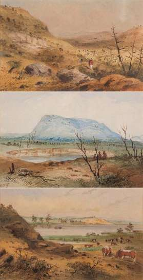 Three South Australian Scenes by S.T. GILL