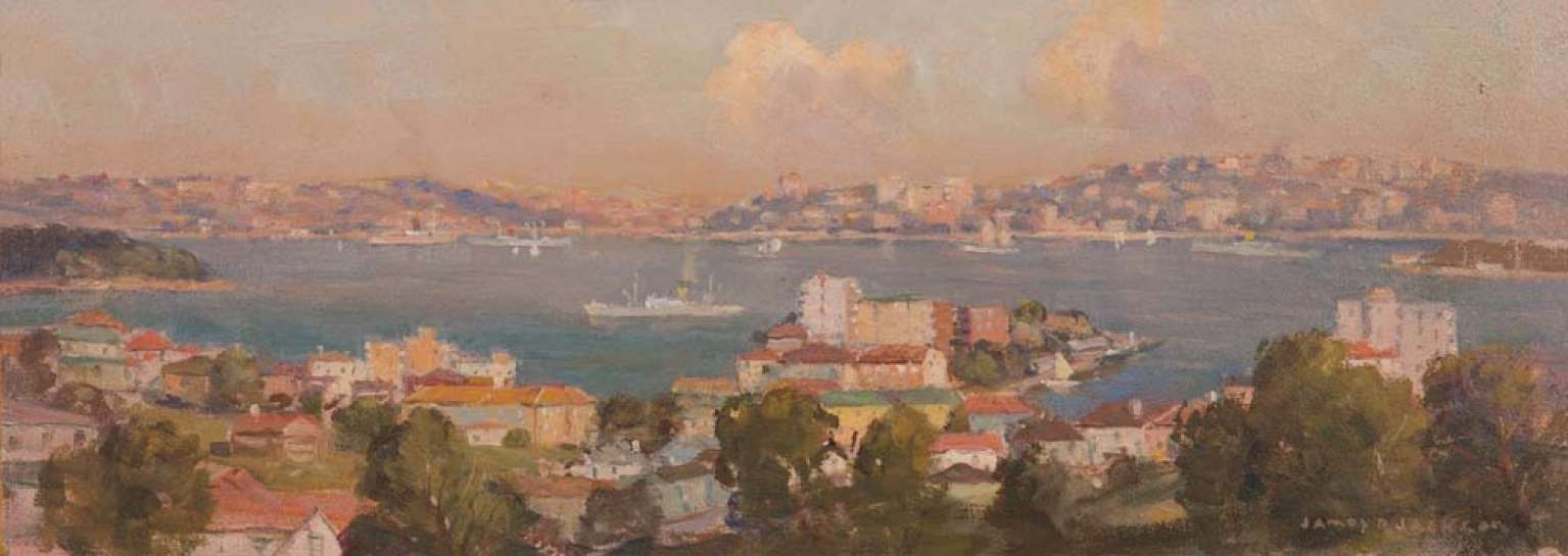 Sydney Harbour from North Sydney by JAMES R. JACKSON