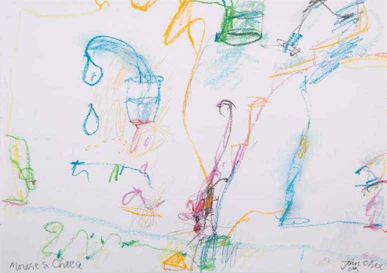 The Mouse and Cheese by JOHN OLSEN