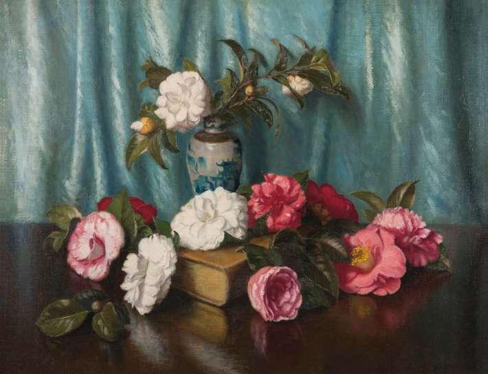 Camellias by ALBERT SHERMAN