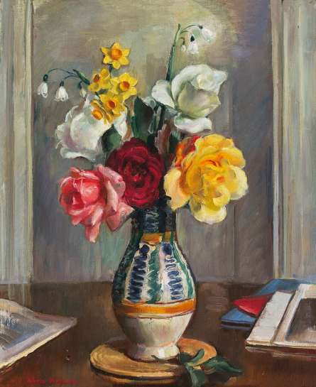 A Few Roses by NORA HEYSEN