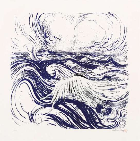 Bird and Wave by BRETT WHITELEY