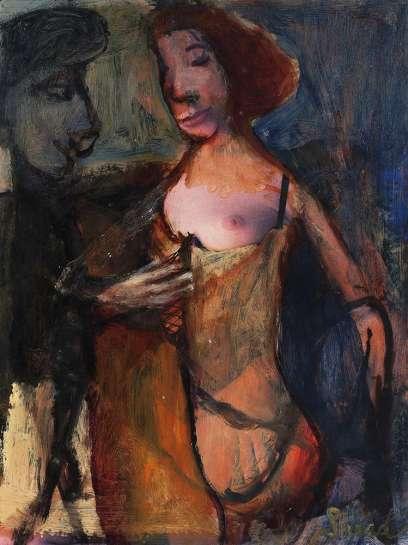 Painter Admiring Model by GARRY SHEAD