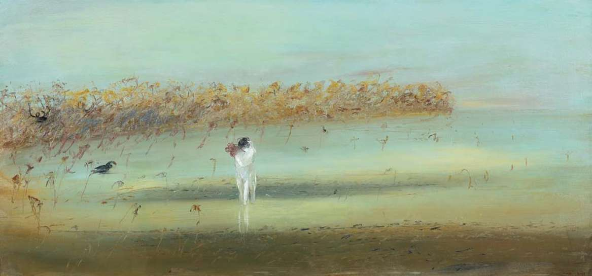 Potter and Wife on Beach at Arthurs Seat by ARTHUR BOYD