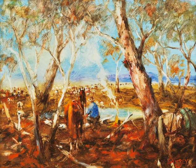 The Dawdling Mob 2, Western Queensland by HUGH SAWREY