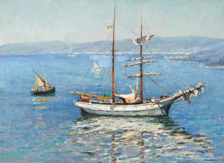 Ketch in Sydney Harbour by WILL ASHTON