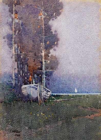 Old Boat by J.J. HILDER