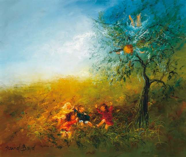 Children Playing in the Garden of Paradise by DAVID BOYD
